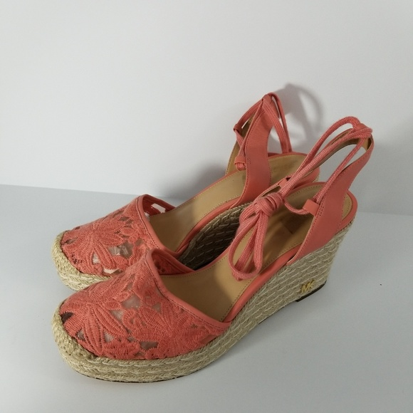 bbb1d6043d7 Micheal Kors Margie Embroidered Ankle Wrap Espadri
